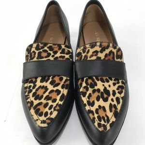 Nine West Cheetah calf hair loafers size 7.5